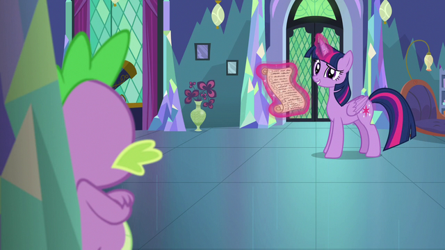 """File:Twilight amused by Spike calling her """"Sparkle"""" S7E1.png"""