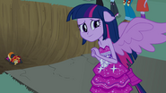 Twilight looking back to her friends EG