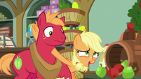 Young Applejack interrupting Big McIntosh S6E23
