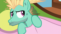 Zephyr Breeze pouting at Fluttershy S6E11