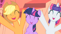 Applejack and Rarity yay! S1E08.png