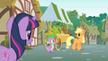 Applejack talks to Twilight about Pinkie's sense S1E15.png