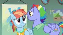 Bow and Windy looking at each other confused S7E7