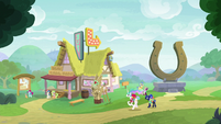 Celestia and Luna approach a tourism stop S9E13
