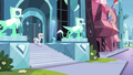 Crystal mare librarian going down stairs S3E1.png