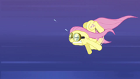 Fluttershy straining to keep up S2E22