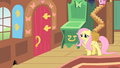 Fluttershy walking out to return Philomena S1E22.png