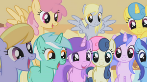 Ponies drooling over muffins half 1 S1E04