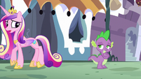 Princess Cadance starting to walk away S5E10