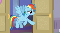 Rainbow Dash calling on Silverstream S8E16
