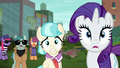 Rarity, Coco, and Method Mares look at stage S5E16.png