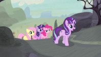 Starlight leads Mane Six to the cutie mark vault S5E1