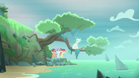 Terramar sitting on a tree branch S8E6