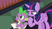 Twilight Sparkle in deep thought S8E1