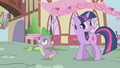 Twilight denying Spike's compliment S1E6.png