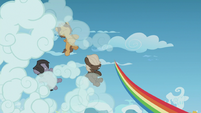 Young Rainbow speeds away from the Boy Bullies S5E8