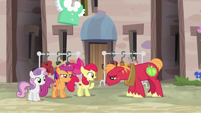 "File:Apple Bloom ""what can he do that you can't?"" S7E8.png"