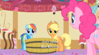 Applejack and Rainbow Dash sees Pinkie S1E25