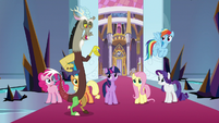 Discord giving credit to Fluttershy S9E2
