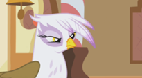 Gilda pouting