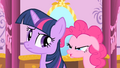 Pinkie Pie reminds Twilight to keep Spike's secret S1E20.png