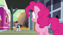 Pinkie listens to All Aboard S5E11