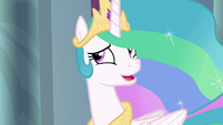 Princess Celestia feeling embarrassed S8E7
