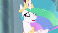Princess Celestia feeling embarrassed S8E7