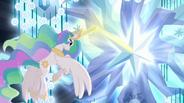 Princess Celestia using magic on tree S4E02