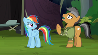 Quibble groaning in exasperation S6E13