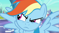 Rainbow Dash looks to the left S3E2