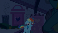 Rainbow Dash starting to feel guilty S6E15