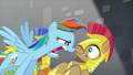 Rainbow questions one of the royal guards S5E15.png