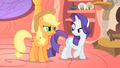"Rarity dares Applejack ""do something carefully and neatly"" S1E08.png"