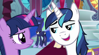 "Shining Armor ""line of defense"" S9E4"