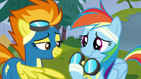 Spitfire gives Rainbow her goggles back S6E7