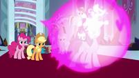 Twilight Sparkle creates a magic barrier S9E2