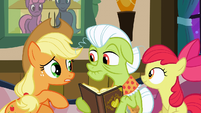 Applejack asks about the quilt S3E8