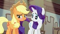 Applejack blushing again S5E16