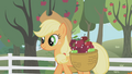 Applejack walking through the apple orchard S01E03.png