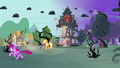 Black vines and thorny clouds in Ponyville S4E01.png