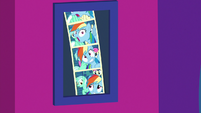 Booth pictures of Rainbow, Lyra, and Bon Bon S8E5