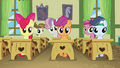Everypony staring at Diamond Tiara S2E23.png