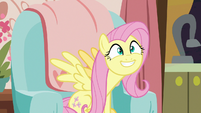 Fluttershy excited by Discord's tea S7E12