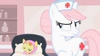Nurse Redheart being serious S2E13