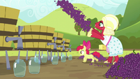 Orchard Blossom tossing grapes S5E17