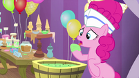 Pinkie Pie licking ice cream off her hoof MLPS5