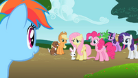 Rainbow Dash 'If I'm a pony without a pet, right-' S2E7