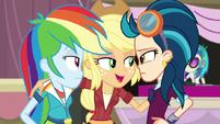 Rainbow Dash Applejack and Indigo Zap
