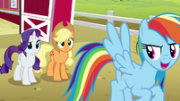 Rainbow Dash laughing mischievously S6E15